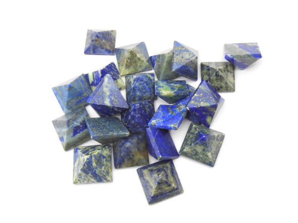 Lot of 20 Lapis Lazuli Pyramids - 15 to 18 mm