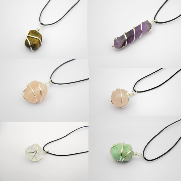 Bag of 50 Wire-wrapped pendants - Assorted