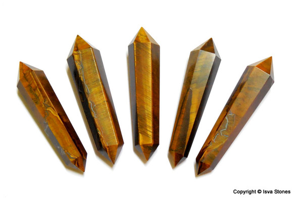 Tiger Eye Petite Points Double terminated Points