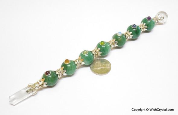 Jade Quartz Sphere Chakra Crystal Wand