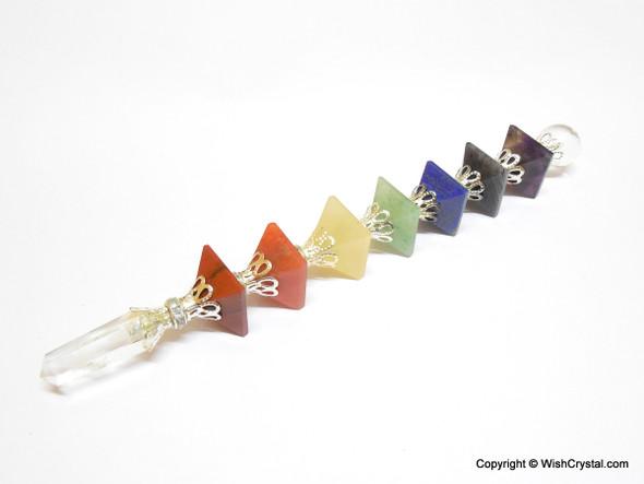 Chakra Pyramid Wand with Metal Crafting
