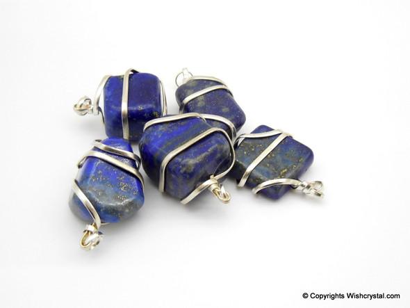 Lapis Lazuli Tumble Wire wrap pendant
