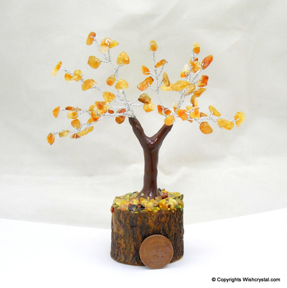 Natural Citrine Petite Gem Tree 4-inch