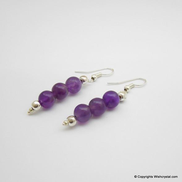 Amethyst Beads Earring