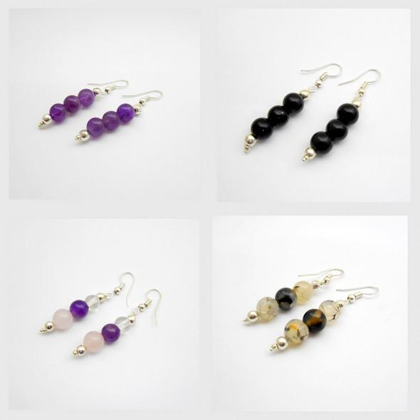 Crystal Quartz Beads Earring