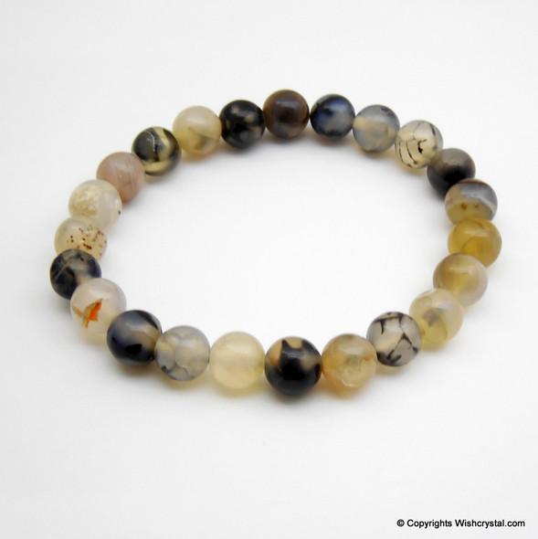 Black Onyx Moonstone Beads Bracelet