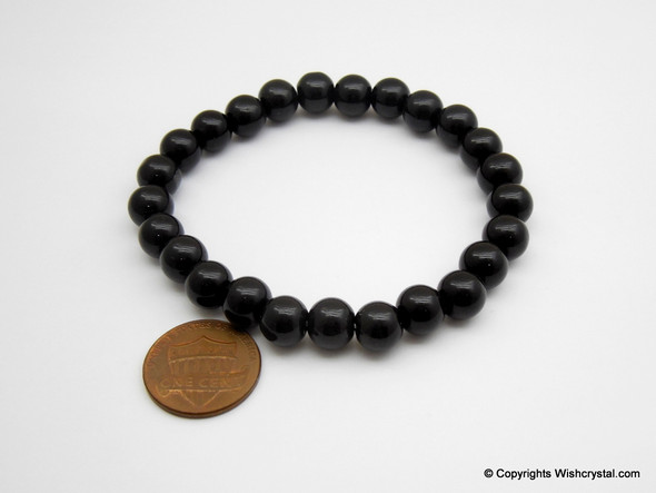Black Obsidian Beads Bracelet