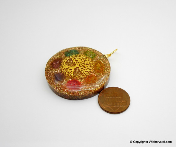 Chakra Tree of Life Orgonite pendant