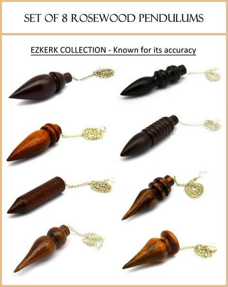 Set of 8 Rosewood Pendulums - Ezkerk Collection