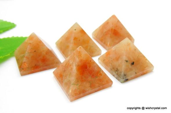 Sunstone Pyramid - 18 to 20 mm