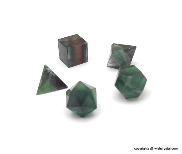 Fluorite Sacred Geometry Set