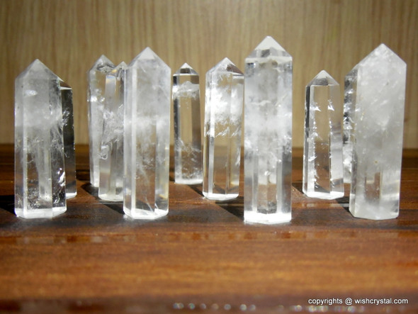 Natural Quartz Crystal 6-faceted Points