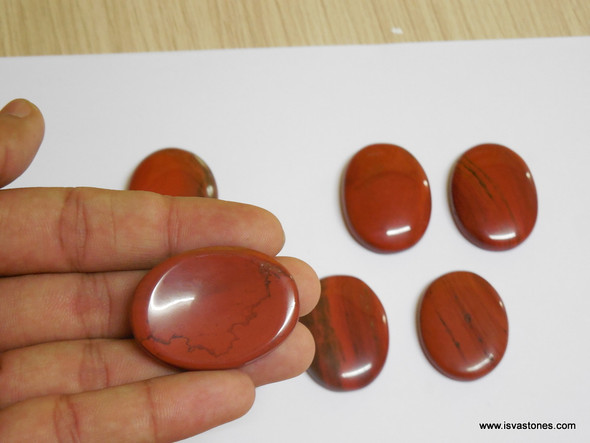 Red Jasper Oval Worry Stone