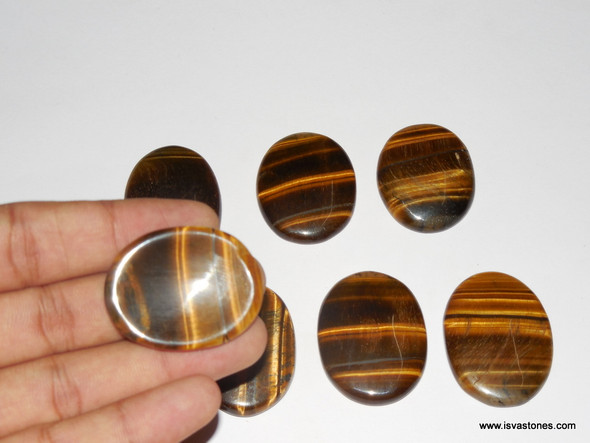 Tiger Eye Oval Worry Stone