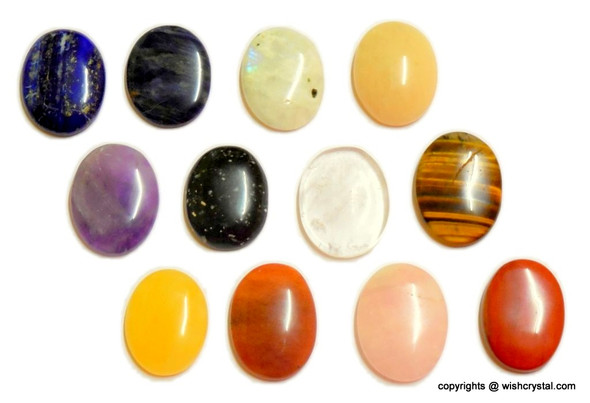 Bag of 20 mixed worry stone made from natural stone`