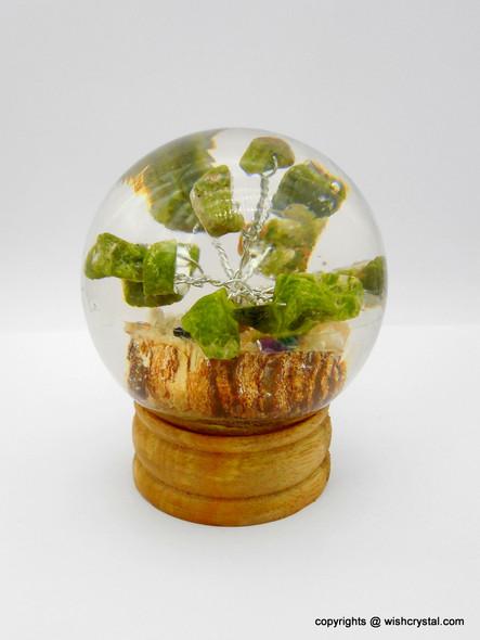Moss Agate Tree in Orgonite Sphere