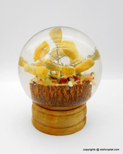 Yellow Aventurine Crystal Tree in Orgonite Sphere
