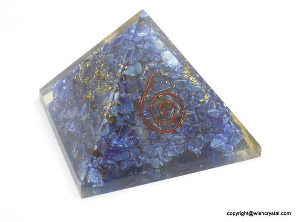 Third Eye Chakra Orgonite Pyramid - 40 mm