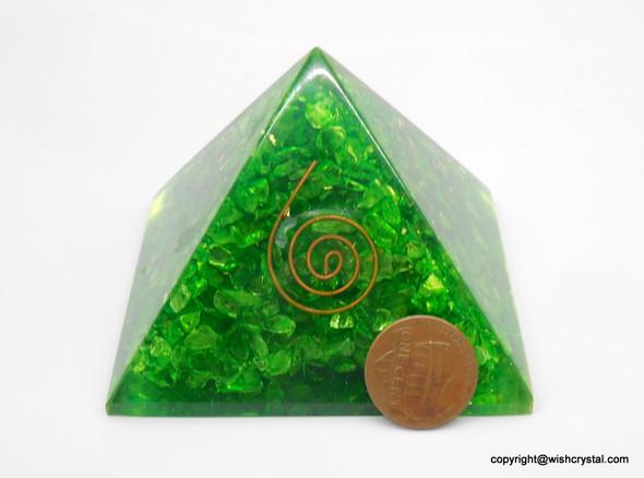 Heart Chakra Orgonite Pyramid - 40 mm