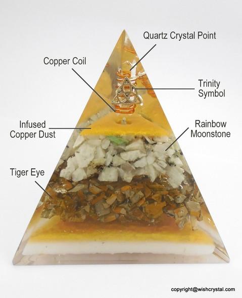 Trinity Orgonite Tall Pyramid - 70 mm