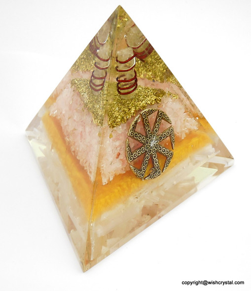Circle of Life Orgonite Pyramid - 60 mm (Made to Order Only)