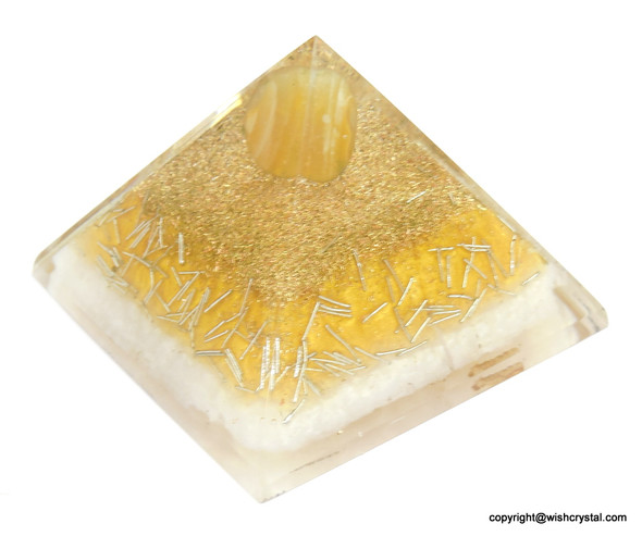 Sacral Chakra Orgonite Pyramid - 60 mm