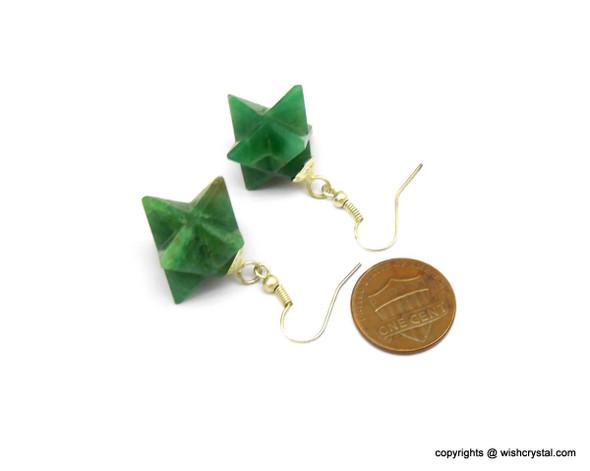 Green Aventurine Merkaba Earrings