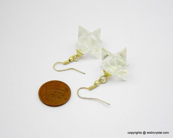Crystal Quartz Merkaba Earrings
