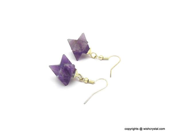 Amethyst Merkaba Earrings