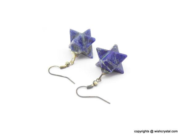 Lapis Lazuli Merkaba Earrings
