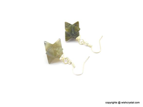 Labradorite Merkaba Earrings