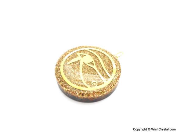 Orgonite Pendant Eye of Horus with Chakra Stones