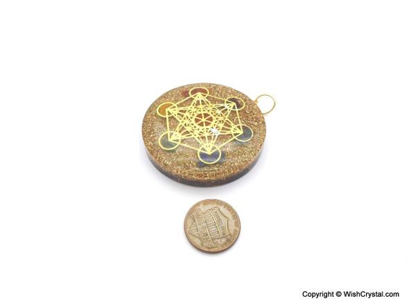 Orgonite Pendant Metatron with Chakra Stones
