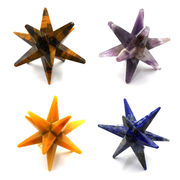 Yellow Aventurine Star with 12 points