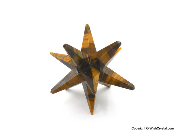 Tiger Eye Crystal Star with 12 Points
