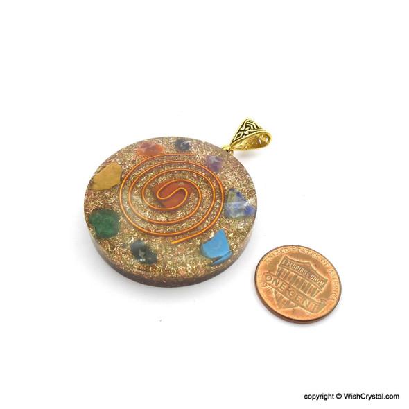 Orgonite Chakra Pendant with Copper Coil - Super 7 - 3