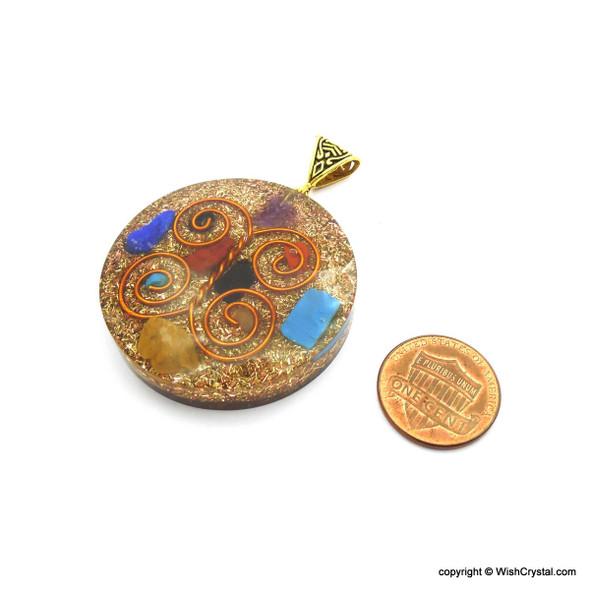 Orgonite Chakra Pendant with Copper Coil - Super 7 - 5