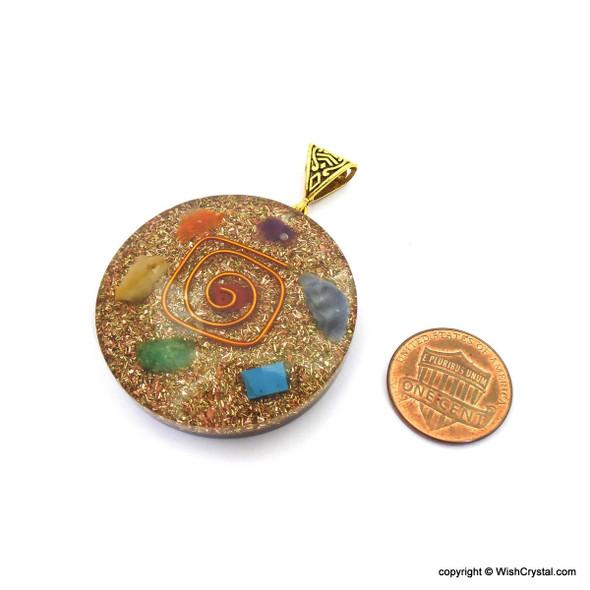 Bag of 50 Orgonite Chakra Pendant - Super 7 Collection