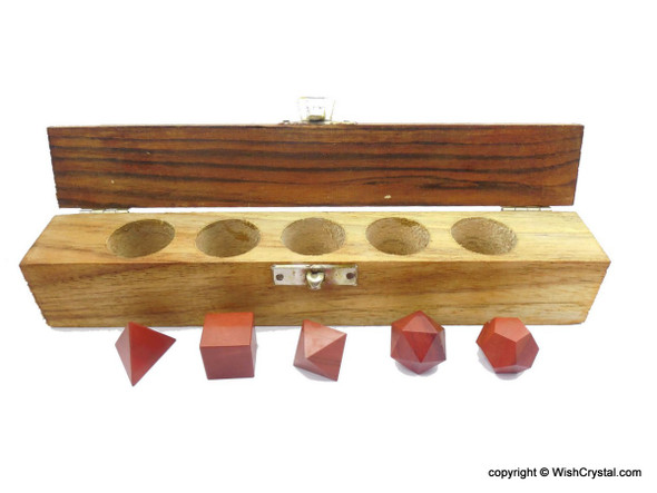 Red Jasper Sacred Geometry Set