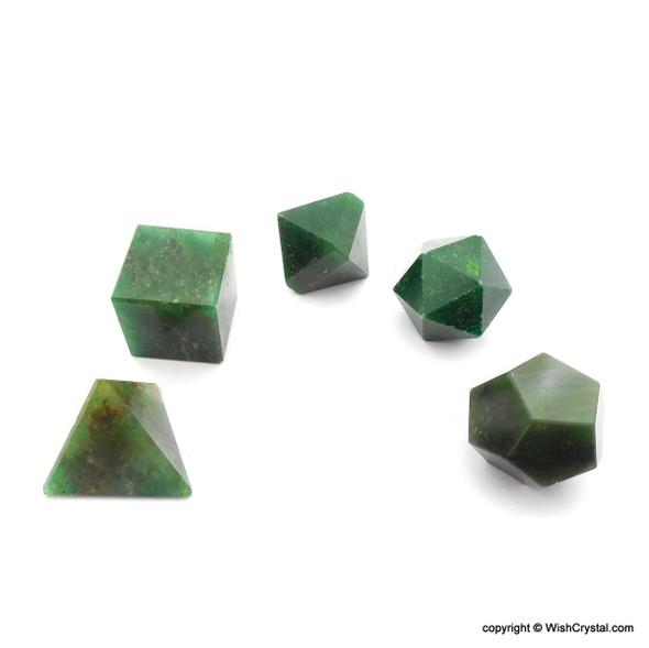 Green Aventurine Sacred Geometry Set