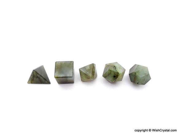 Labradorite Sacred Geometry Set