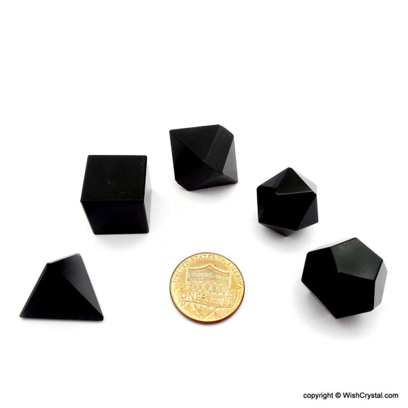 Black Obsidian Sacred Geometry Set