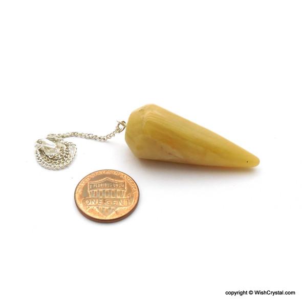 Wholesale supplier of Natural Healing Crystal Pendulum of Yellow Aventurine