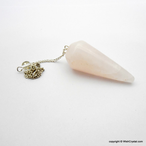 Wholesale supplier of Natural Healing Crystal Pendulum of Rose Quartz