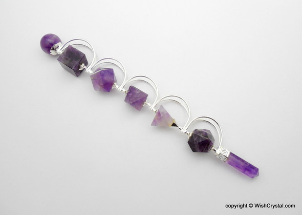 Natural Amethyst Sacred Geometry Wands
