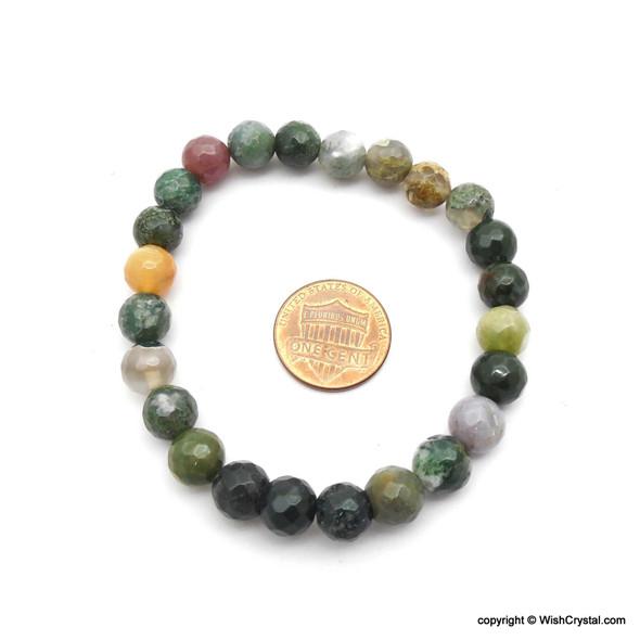 Moss Agate Bead Bracelets