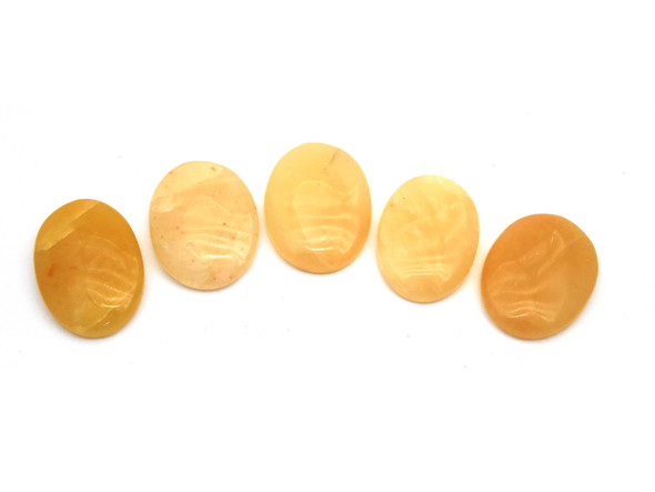 Yellow Aventurine Cabochons for Healing - Oval Shape