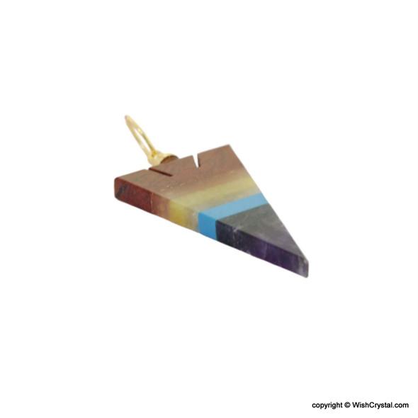 Chakra Stone Bonded Arrowhead Pendant