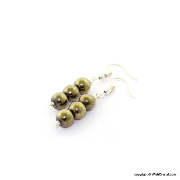 Pyrite Beads Earrings