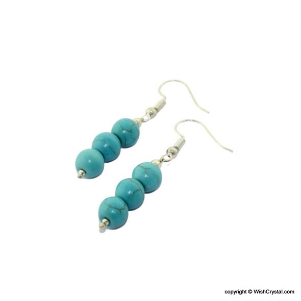Halo Turquoise Beads Earrings